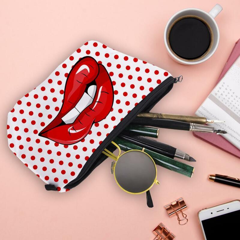 Borsa per trucco Jom Tokoy con motivo di stampa borse per Organizer carine per borse da viaggio borsa per cosmetici da donna