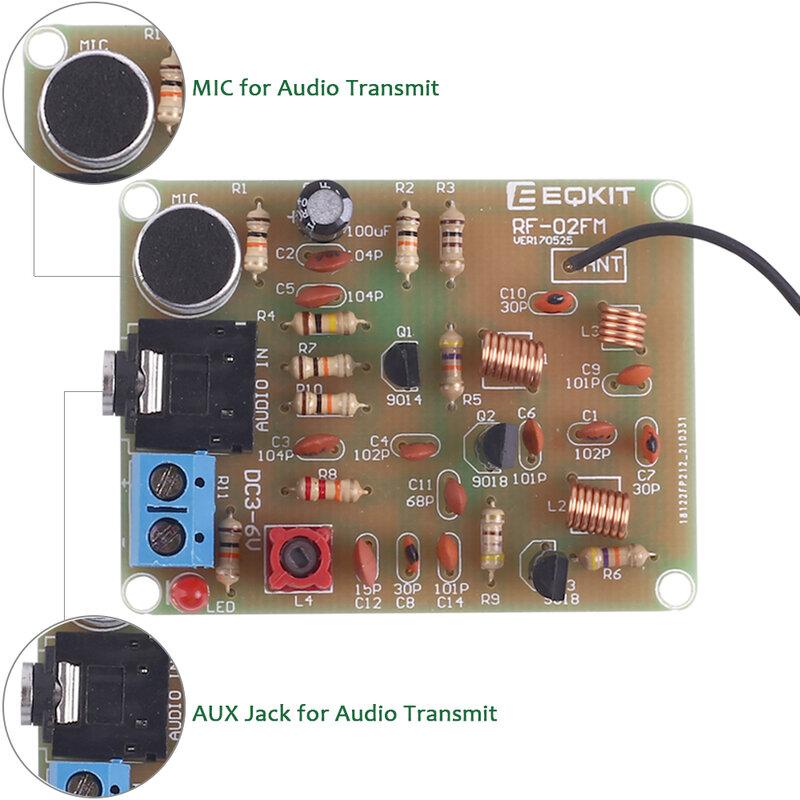 جهاز بث راديو استريو إف إم لتقوم بها بنفسك عدة مع ميكروفون قابل للتعديل 88-108MHz الارسال اللاسلكي تيار مستمر 3 فولت لتقوم بها بنفسك ممارسة لحام