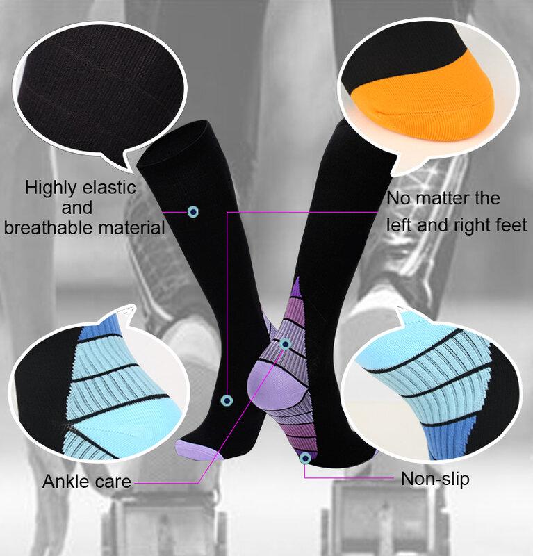 Hot Sale Running Compression Socks Stockings 20-30 Mmhg Men Women Sports Socks For Marathon Cycling Football Varicose Veins Sock