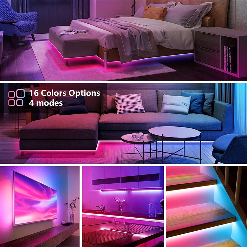 5-30M Led 스트립 조명 울트라 롱 RGB 5050 색상 변경 LED 빛 스트립 키트 44 키 Ir 원격 Led 조명 침실