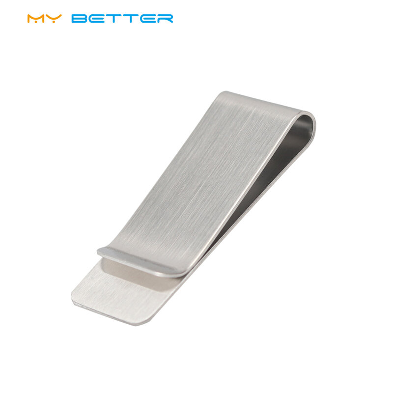 High Quality Stainless Steel Metal Money Clip Fashion Simple Silver Dollar Cash Clamp Holder Wallet for Men Women