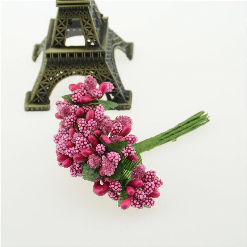 12 Teile/los Mulberry Künstliche Blume Staubblatt Zucker Blätter für Hochzeit Home Decor DIY Kranz Hand Box Dekoration Gefälschte blume