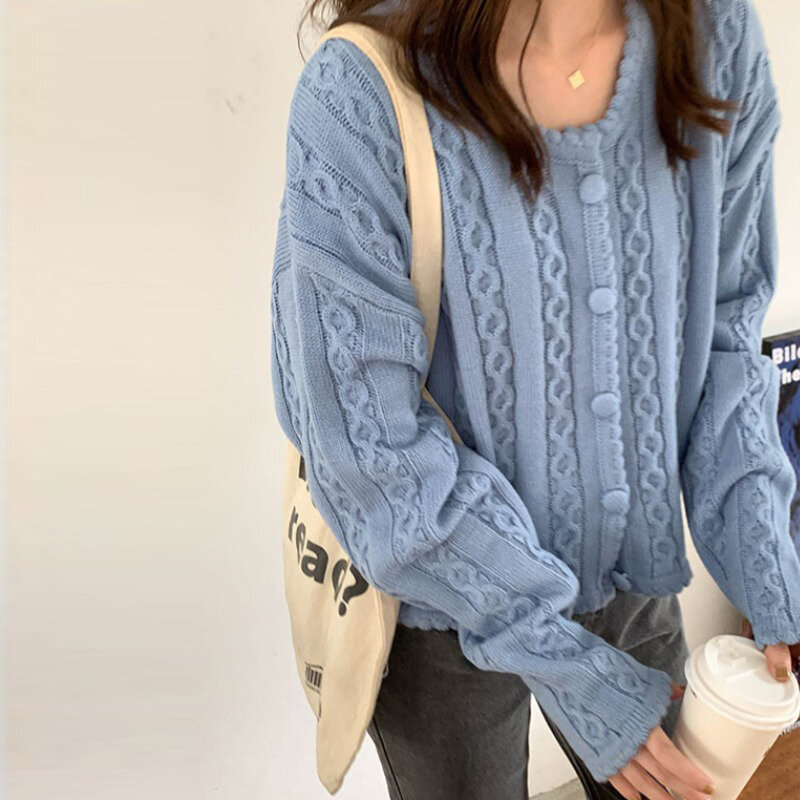 Sweater Female Autumn and Winter Korean-style Loose Outer Wear Versatile Slimming Students Ins Mori Style Long-Sleeve Knit