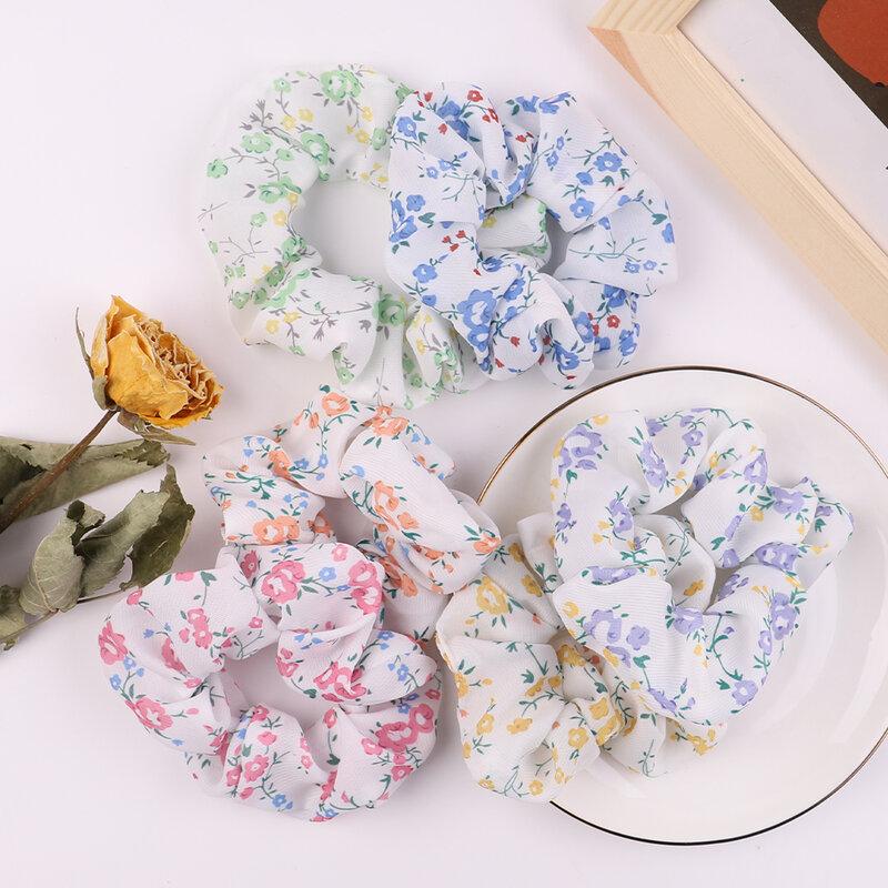 1 Màu Sắc In Tóc Scrunchies Cho Nữ Bé Gái Thun Cột Tóc Đuôi Ngựa Giá Đỡ Tóc Dây Mũ Phụ Kiện Tóc
