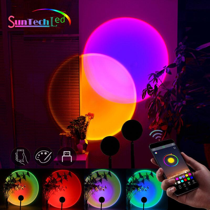 Suntech, 일몰 프로젝션 램프, USB 무지개 일몰 램프 색상 변경 앱 제어, 180 도 회전 일몰 프로젝션 램프