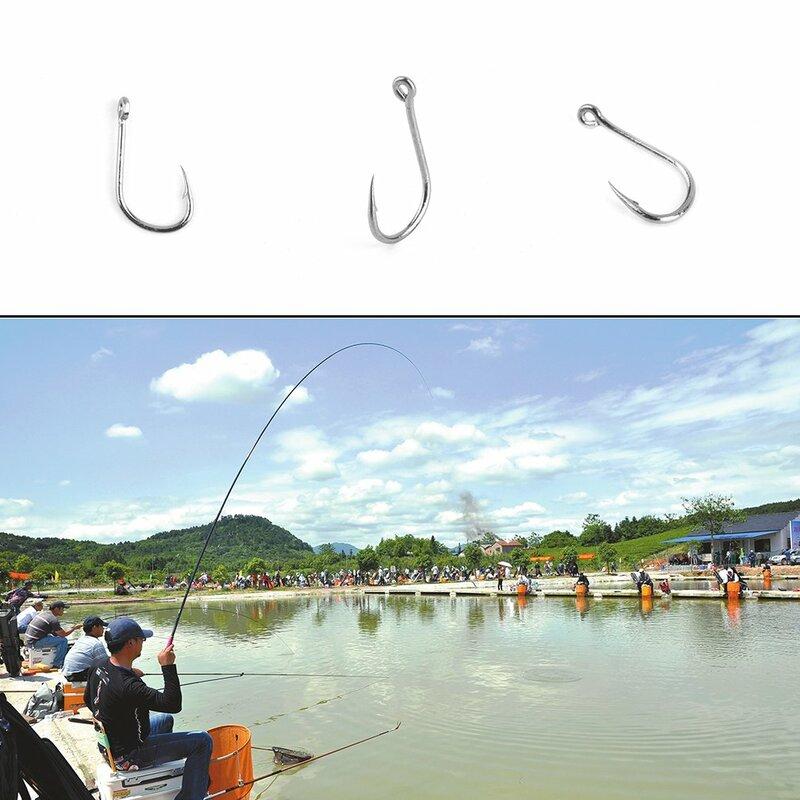 100pcsขายส่งเหยื่อตกปลาBarb Fishhook Lure Tackleพร้อมกล่องขนาด 4/6/8/10/12