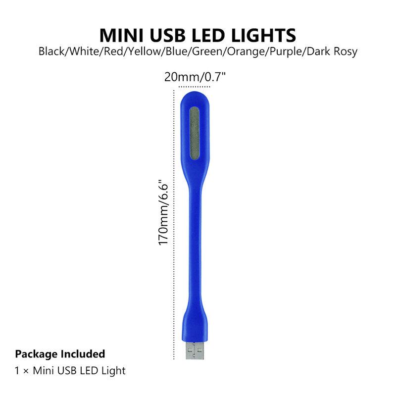 휴대용 미니 USB 빛 보조베터리 컴퓨터 액세서리에 대 한 usb와 매우 밝은 유연한 DC5V 1.2W LED 램프 예약 빛