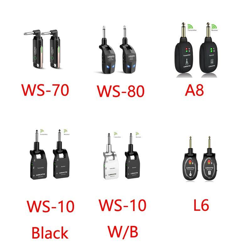 LEKATO ตัวรับสัญญาณ WS-70ไร้สายระบบกีตาร์ Built-In เสียงกีตาร์ไร้สายระบบ70ช่อง40M