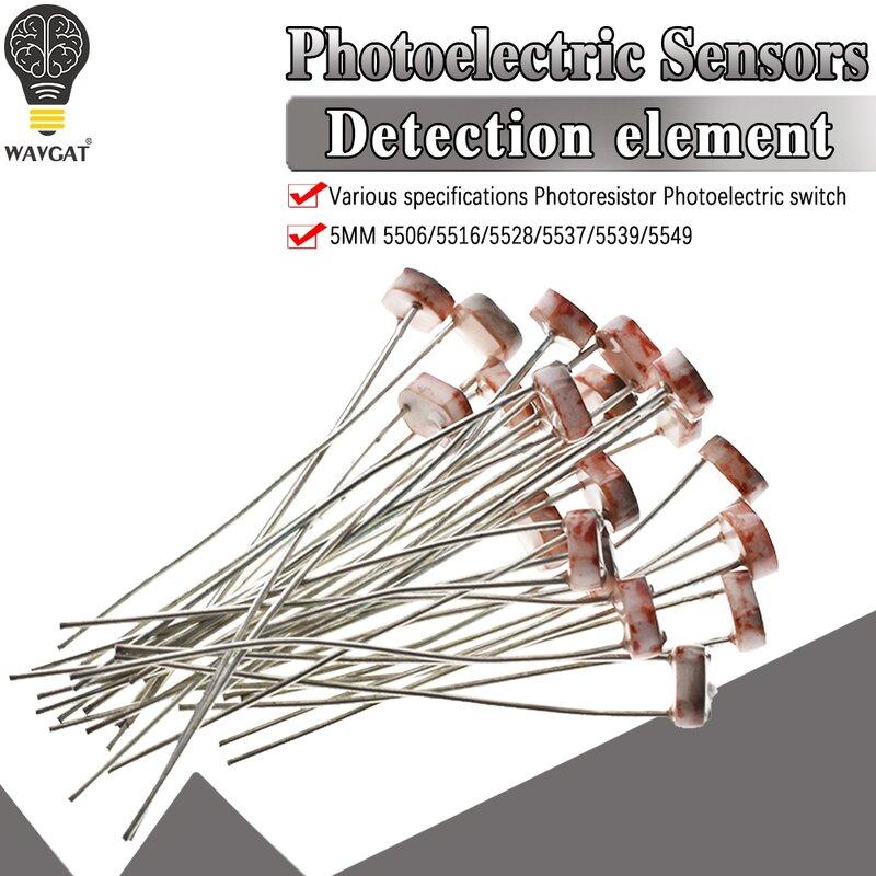 20 pz x 5528 Dipendente Dalla Luce del Resistore LDR 5mm Fotoresistore all'ingrosso e al dettaglio resistenza Photoconductive per arduino