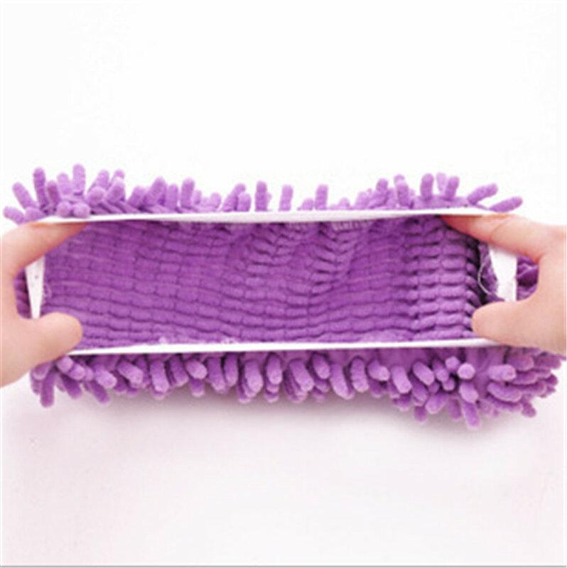 1 pièce microfibre vadrouille nettoyage de sol paresseux floue pantoufles maison plancher outils chaussures salle de bains cuisine nettoyant