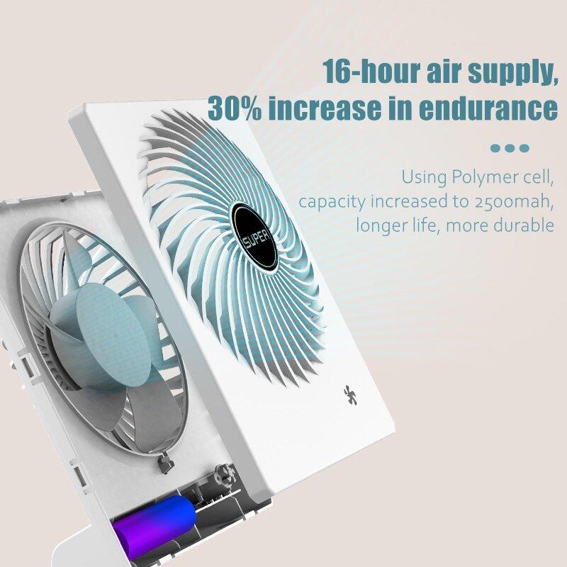 2021 neue USB 5 getriebe fan büro desktop elektrische lüfter lade tragbare mini schlafsaal ruhig wiederaufladbare desktop kleinen ventilator