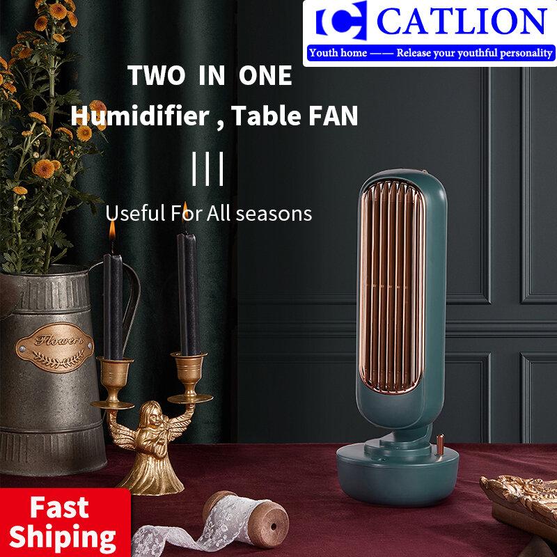 Befeuchtung turm fan kreative zwei-in-one spray desktop USB integrierte tragbare klimaanlage wiederaufladbare tisch fan