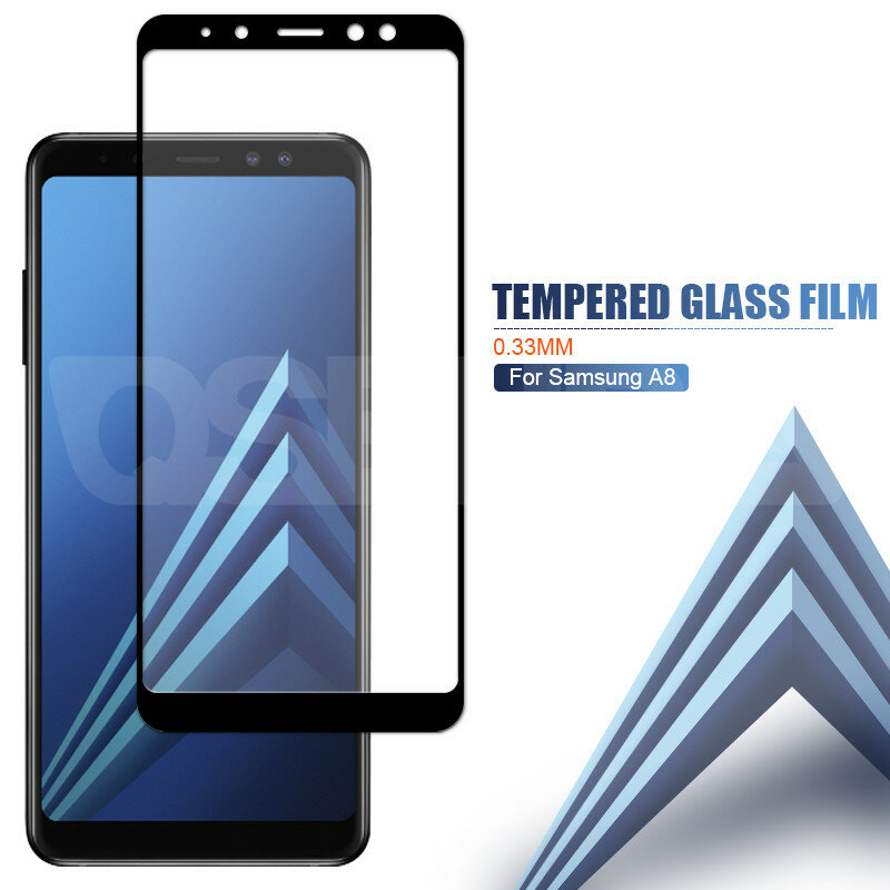 9Dป้องกันแก้วสำหรับSamsung Galaxy A5 A7 A9 J2 J8 2018 A6 A8 J4 J6 Plus 2018 กระจกนิรภัยป้องกันหน้าจอฟิล์ม