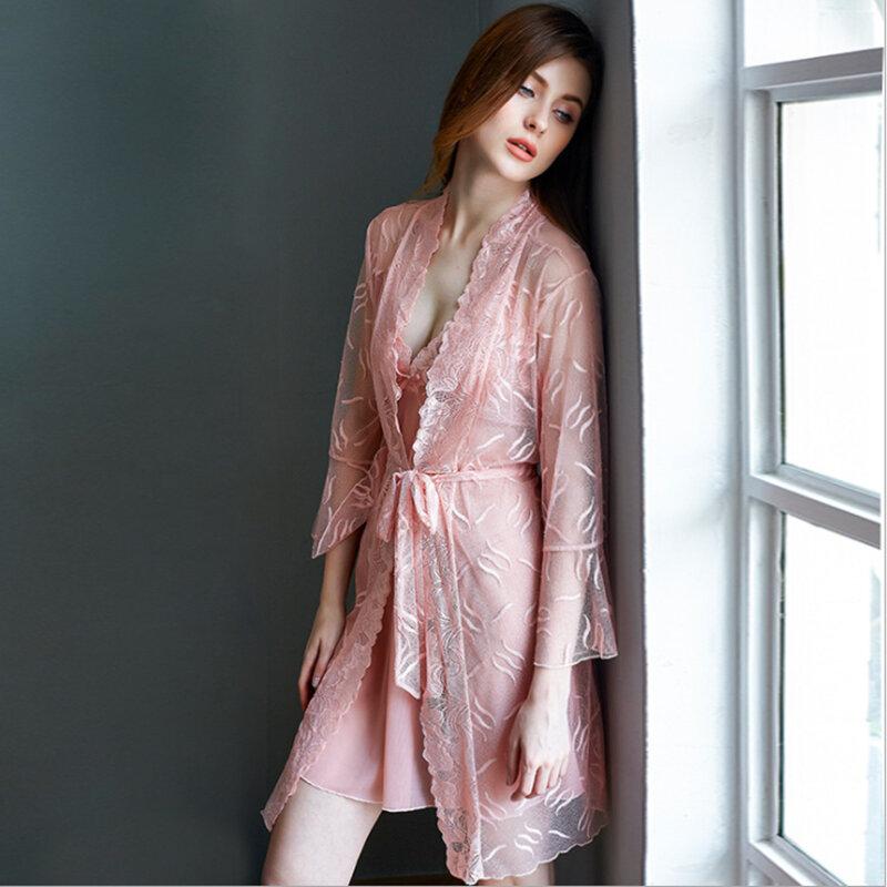 Miss Zia-camisones de encaje para mujer, lencería Sexy fina de verano, ropa interior íntima para el hogar