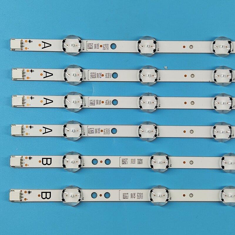새로운 원본 7LED 460mm LED 백라이트 스트립 도시바 49U5766DB VESTEL 49 UHD DRT VNB A B 유형 VES490QNDL-2D-U11