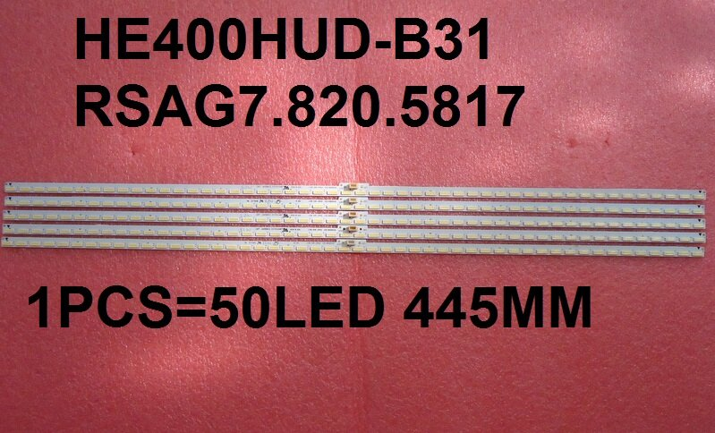 Tira de ledes de HE400HUD-B31, RSAG7.820.5817, SSY-1135387-A, 50 ledes, 445MM, para LED40K370