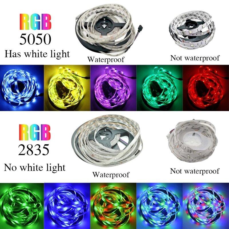 12V Led 스트립 빛 RGB SMD5050/2835 주변 Led 스트립 블루투스 리본 Led 방수 Led 스트립 거실 장식