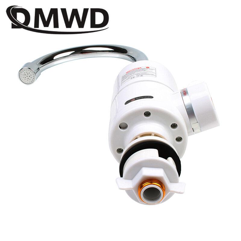 DMWD 3000W rubinetto per doccia elettrico istantaneo bagno cucina senza serbatoio riscaldamento istantaneo scaldabagno caldo freddo rubinetto spina ue usa