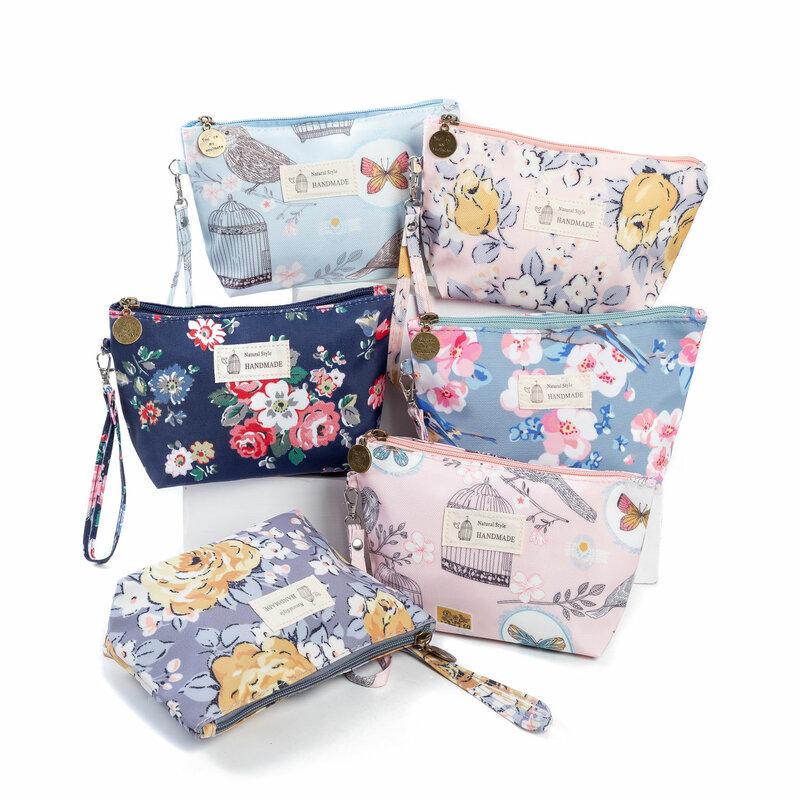 Miyahouse-Bolso de cosméticos con estampado Floral Vintage para mujeres, bolsos de maquillaje para mujeres, bolsa de cosméticos con cremallera, bolsa portátil de viaje, novedad