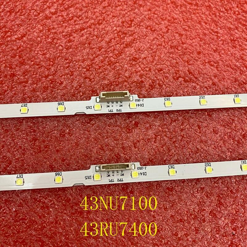 De retroiluminación LED (2) para Samsung UE43NU7192U UE43RU7092 UN43NU7100 UE43NU7100 UE43NU7120 UE43NU7170 UN43RU7400G BN61-15482A