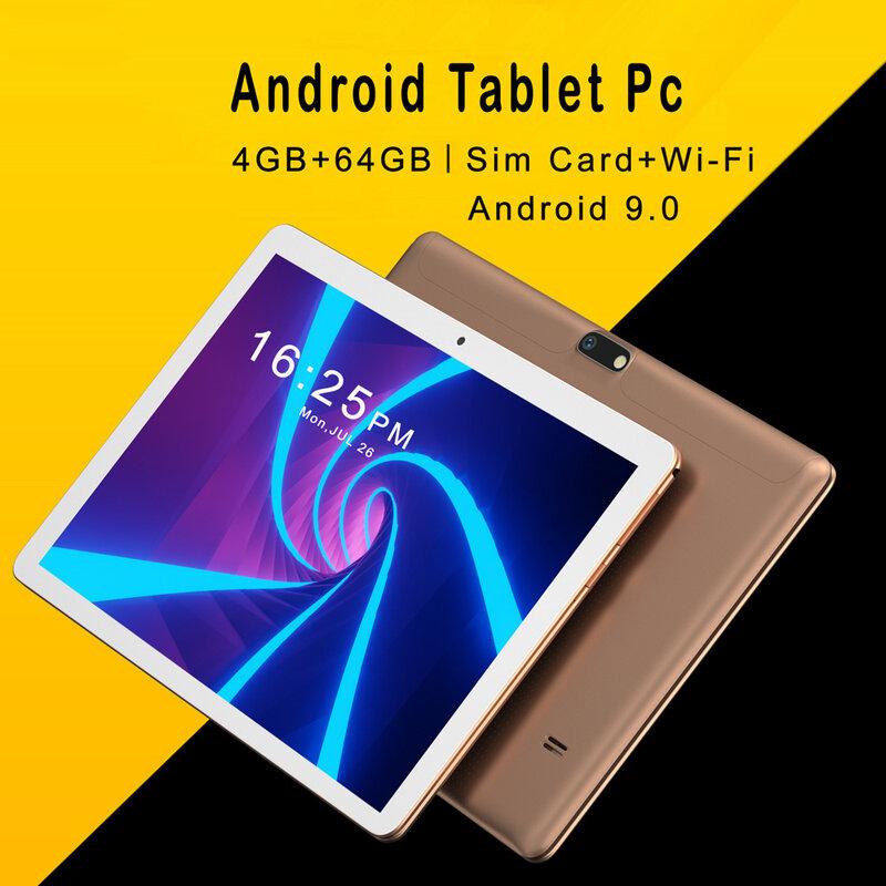 10.1นิ้ว Android 9.0แท็บเล็ตพีซี Octa Core 4GB + 64GB IPS LCD สนับสนุน3G 4G LTE โทรศัพท์มือถือ5000MAh แบตเตอรี่ AI 8 Cpu Android