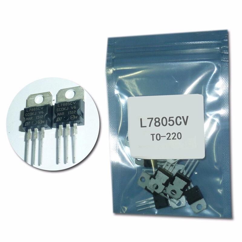 7805 L7805CV TO220 ثلاثة محطة الجهد المنظم 10 قطعة/الوحدة