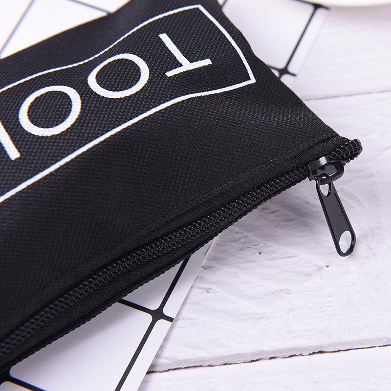 블랙 방수 옥스포드 헝겊 화장품 가방 지퍼 스토리지 파우치 19*11cm