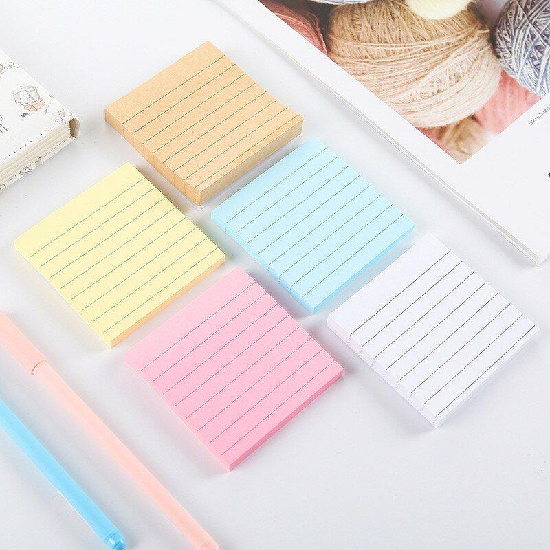 80 pagine/set blocco note a colori solidi Set di cancelleria per scuola di cancelleria Kawaii di qualità fai-da-te forniture per ufficio blocco note note appiccicose carine