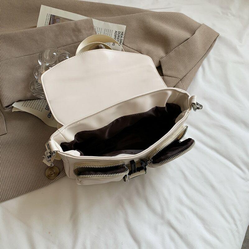 Fashion Wide Shoulder Strap Shoulder Messenger Bags for Women 2021 Leather Small Square Bag Casual Crossbody Bag Bolsa Feminina