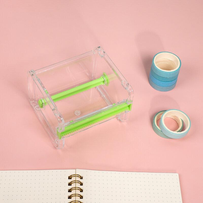 Kreative Washi Klebeband Cutter Set Klebeband Werkzeug Transparent Band Halter Band Dispenser Schule Liefert Büro Schreibwaren