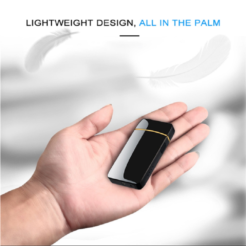 Mini Double Electric Lighter USB Charging Touch Control Portable Windproof With LED Power Indicator Cigarette Accessories