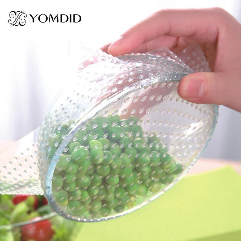 4 pièces/lot aliments frais gardant Saran enveloppement multifonctionnel réutilisable Silicone alimentaire emballage joint couvercle Stretch Envoltura De Alimentos