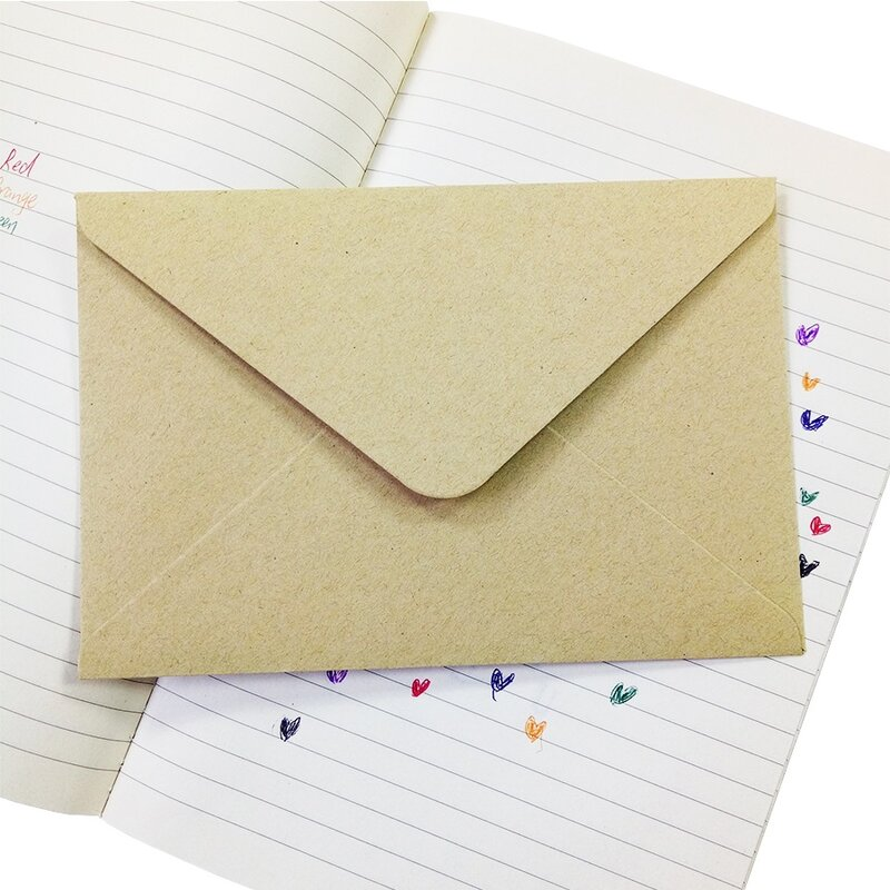 50 pezzi carta regalo a grana ruvida busta multifunzione in carta Kraft fai-da-te buste per carte regalo 16*11cm per la festa di compleanno di nozze