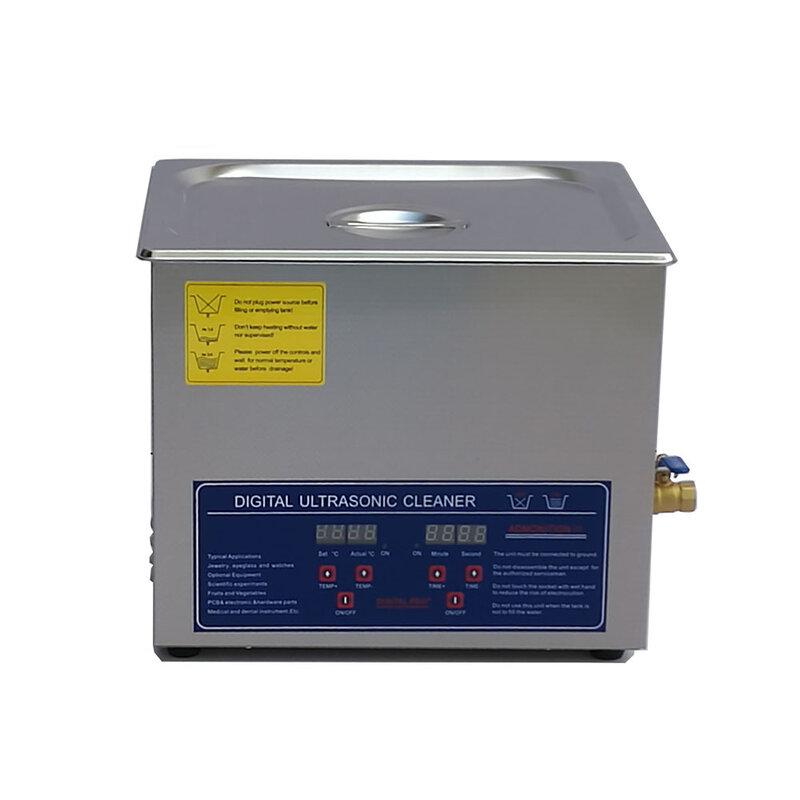 Limpiador ultrasónico digital AC110/220, 10L, 240W, temporizador de PS-40A y piezas de hardware de calentador