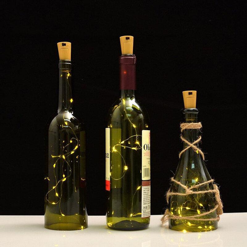 배터리 전원 코르크 와인 병 빛 문자열 빛 바 빛 생일 파티 와인 병 마개 빛 스트립