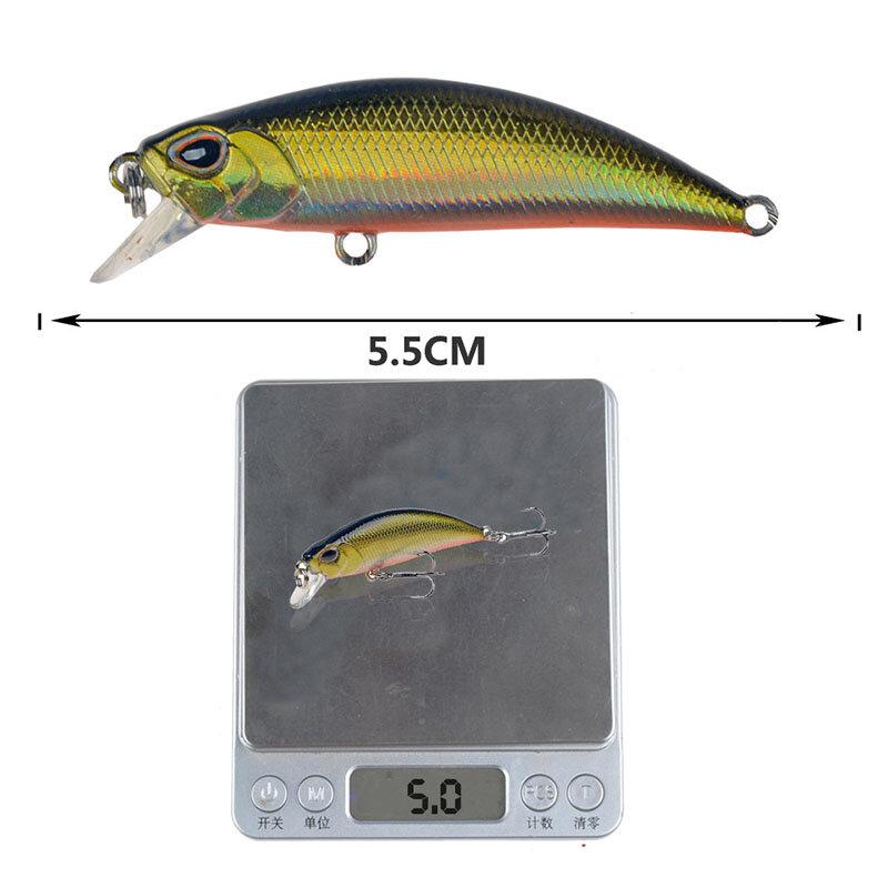 Bionicเหยื่อตกปลากลางแจ้งเหยื่อHardประดิษฐ์3D Eye 6สี5G/5.5Cm 8 # hook Stream Swimbait Lakeน้ำจืด