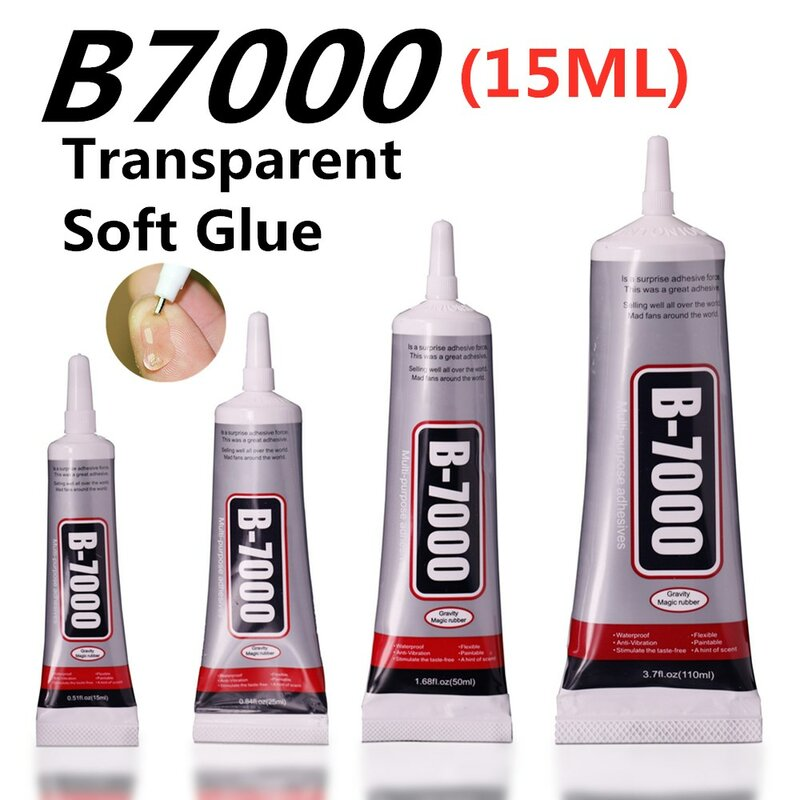Kleber Glas 15ml B7000 Nadel Schmuck Werkzeuge Gum Reparatur Punkt Diamant Tag Handy Touchscreen Sekundenkleber B-7000 Klebstoff