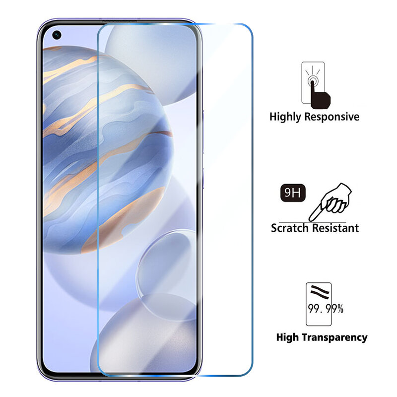 4PCS Full Protective Glass For Huawei Honor 20 10 9 Lite Tempered Glass Honor V 10 20 30 Pro 8X 9X 9S 20i 10i Screen Protectors
