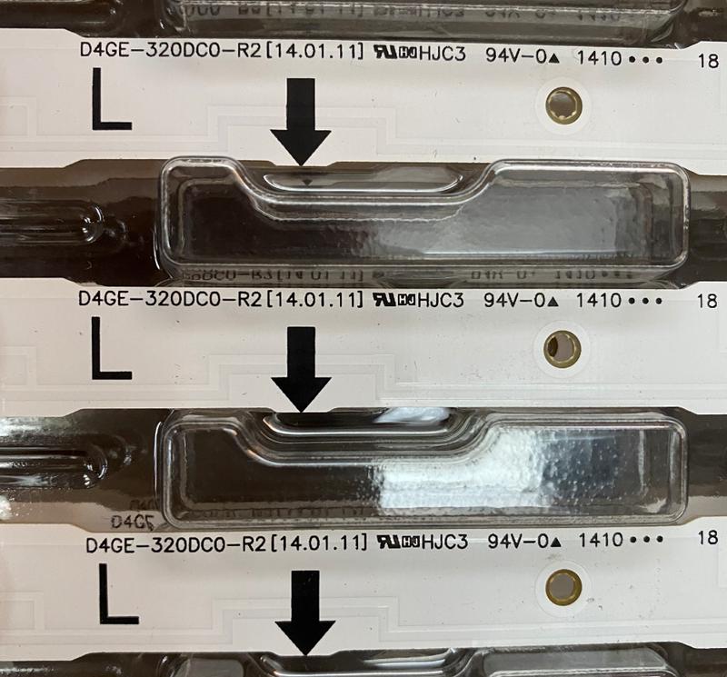 Nueva 3 piezas 7LED 650mm LED de retroiluminación para Samsung UE32H4290AU UW32h4000 2014SVS32HD 3228 D4GE-320DC0-R3 BN96-35208A 30448A