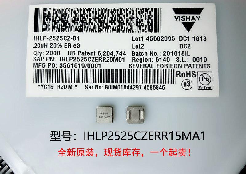 (10) جديد الأصلي 100% جودة IHLP2525CZERR15MA1 0.15UH 7X7X3MM المتكاملة عالية المحاثات الحالية