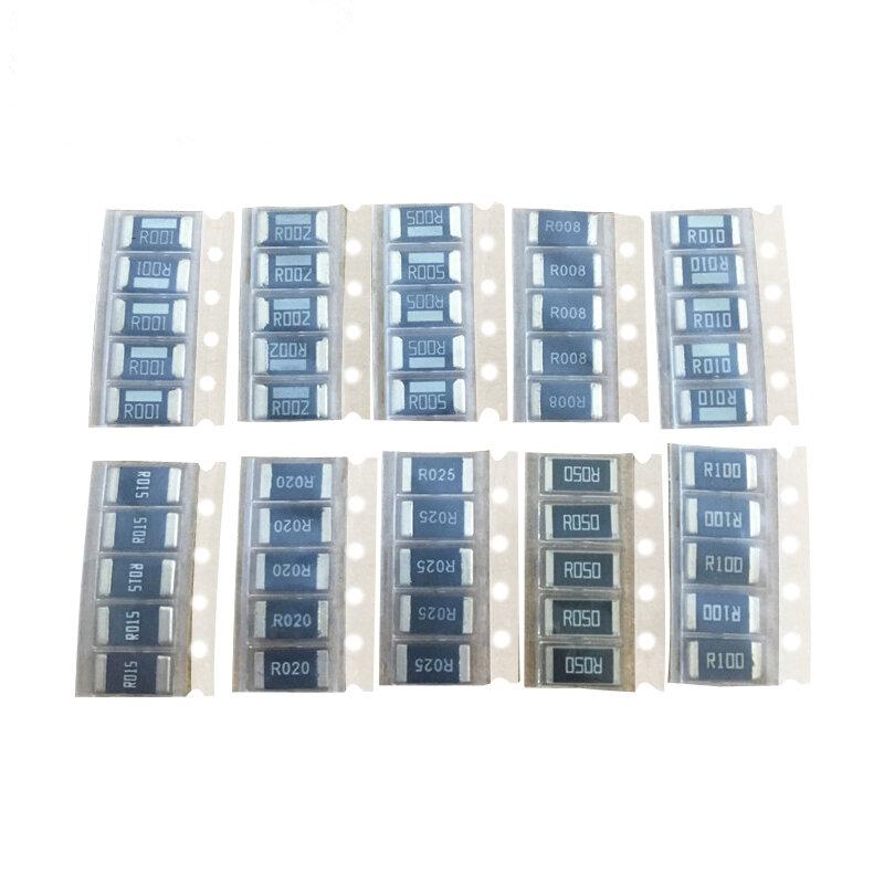 2512 SMD resistors kit 1%  High quality alloy resistance 10 value*5pcs =50pcs R001 R002 R005 R008 R010 R015 R020 R025 R050 R100