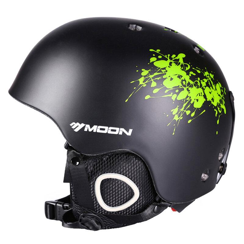 MOON – casque de Ski moulé pour adultes et enfants, pour la neige, le Skateboard, le Snowboard