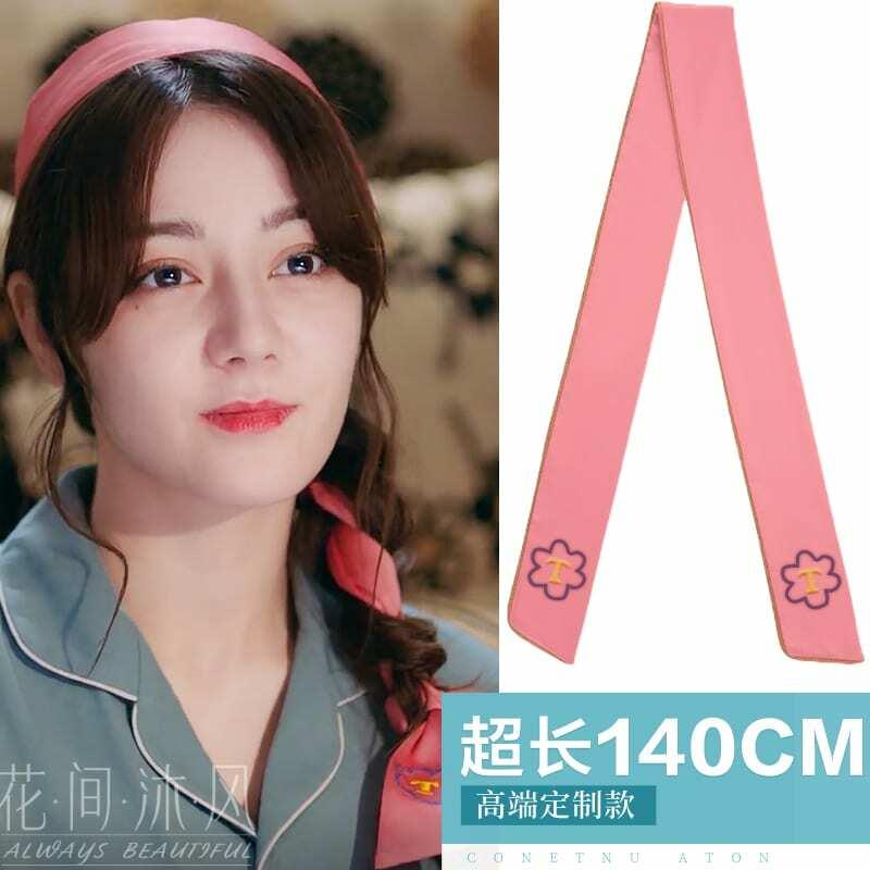 Zhao Liying-Lazo de pelo rojo y negro de estilo de pelo banda para mujer, diadema inmortal de hada Mori, tocado, Liu Shishi