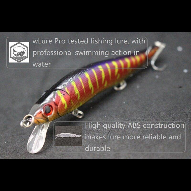 WLure 14g 12cm 2 Perlen Gewicht Transfer 2 Perle in Kopf für Twitch Einfach Lange Casting Tiny Wobble sinking Minnow Angeln Locken M262S