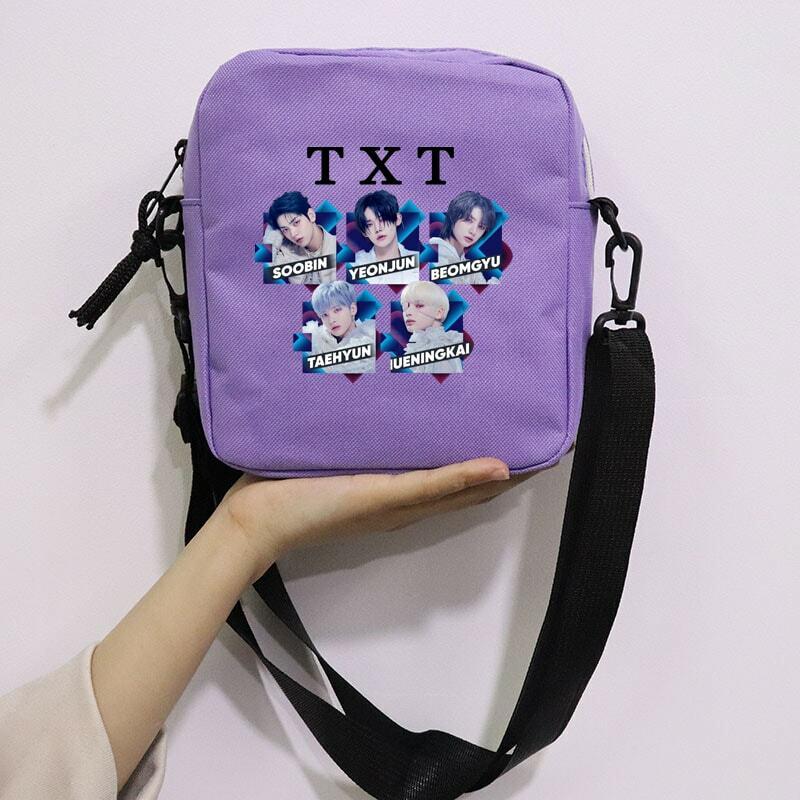 Kpop Txt chaotyczna kraina czarów śliczna torba Mini płócienne torby na ramię Casual Street Zipper torebki torebka Crossbodys
