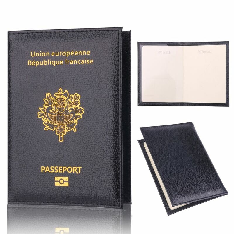 TRASSORY 프랑스 여행 여권 홀더 가방 Multifun 저렴한 가죽 패션 프랑스 여권 커버 케이스 지갑 남성 여성을위한