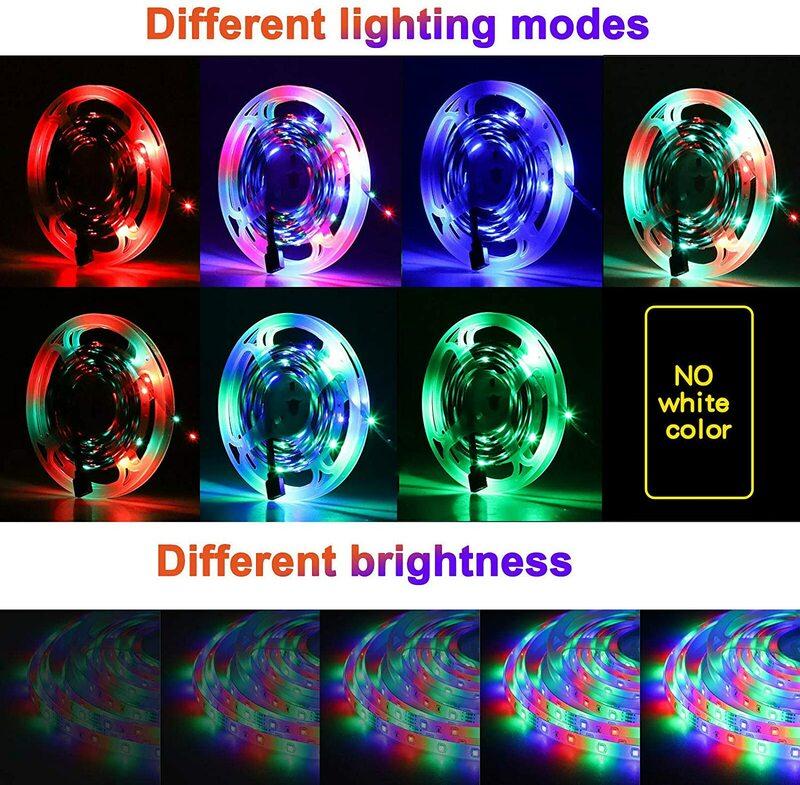 LED 스트립 빛 유연한 RGB 2835 USB 5V 장식 조명 FestivalParty 침실 tvbacklight에 대 한 원격 컨트롤러 리본 램프