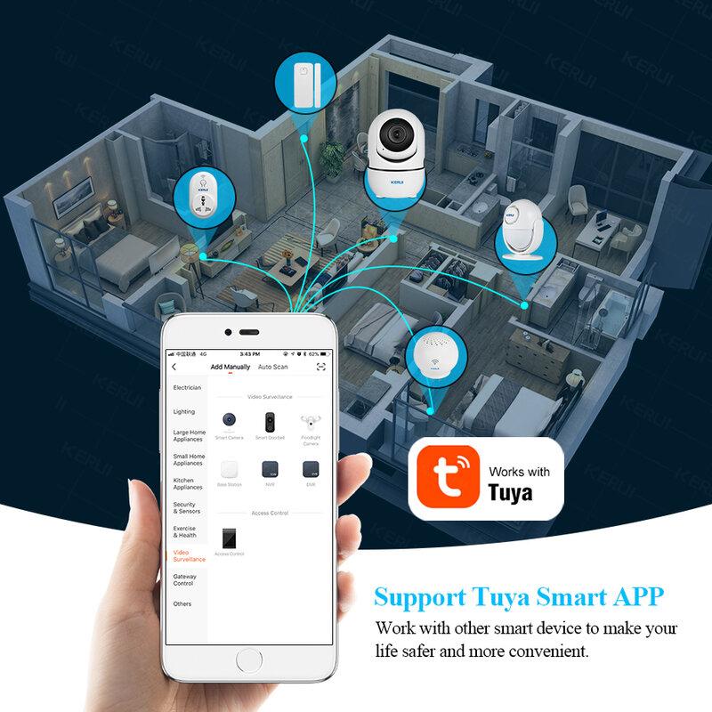 KERUI 720P 1080P 미니 실내 무선 보안 Wifi IP 카메라 홈 CCTV 감시 카메라 1MP 2MP Tuya 스마트 라이프 야간 투시경