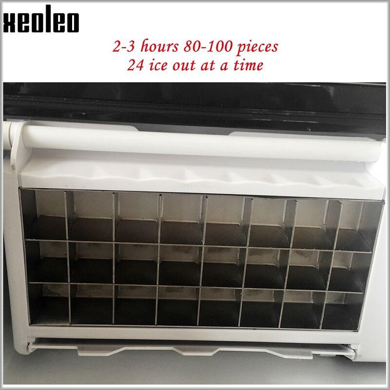 Xeoleo – machine à glaçons Cube 15kg/24h, stockage 1kg, boîte à eau en acier inoxydable 1,5 l, 24 grilles de glace 22x22x22mm, pour café/Bar