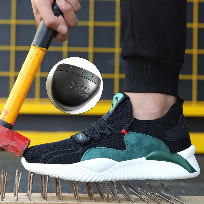 Livraison Directe Hommes Femmes Chaussures de Travail Bottes de Sécurité en acier Standard Européen Anti-smash Anti-crevaison Chaussures de Sport Chaussures De Sécurité